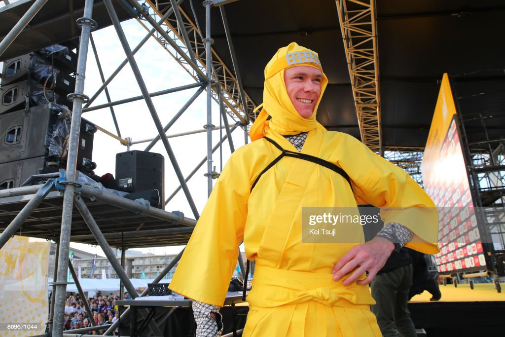 5th Tour de France Saitama Criterium 2017 / Media Day Christopher FROOME (GBR) Yellow Leader Jersey / Ninja / Saitama Criterium / ©Tim De WaeleKT/Tim De Waele/Corbis via Getty Images)