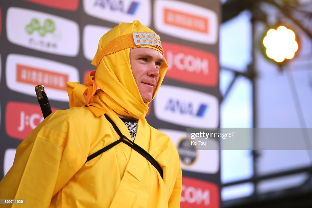5th Tour de France Saitama Criterium 2017 / Media Day Christopher FROOME (GBR)/ Ninja / Saitama Criterium / ©Tim De WaeleKT/Tim De Waele/Corbis via Getty Images)
