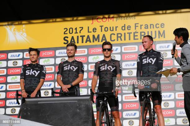 5th Tour de France Saitama Criterium 2017 / Media Day Team SKY / Kenny ELISSONDE / Christopher FROOME / Michal KWIATKOWSKI / Michal GOLAS / Saitama...