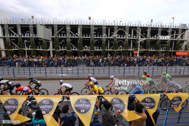 5th Tour de France Saitama Criterium 2017 Peloton / Flags / Christopher FROOME Yellow Leader Jersey / Saitama Saitama / TDF Saitama Criterium / ©Tim...