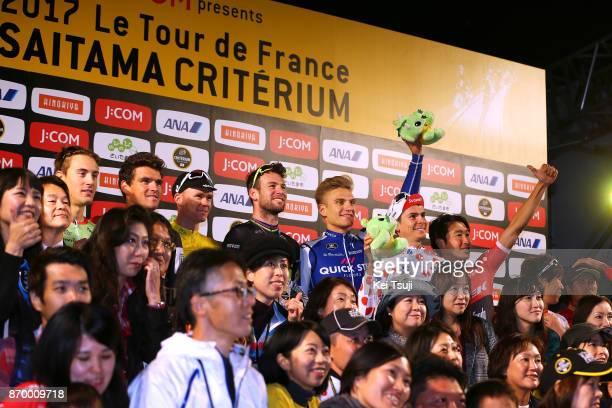 5th Tour de France Saitama Criterium 2017 Podium / Mark CAVENDISH / Christopher FROOME Yellow Leader Jersey / Marcel KITTEL / Greg VAN AVERMAET /...