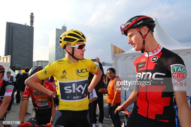 5th Tour de France Saitama Criterium 2017 Start / Christopher FROOME Yellow Leader Jersey / Michael SCHAR / Saitama Saitama / TDF Saitama Criterium /...