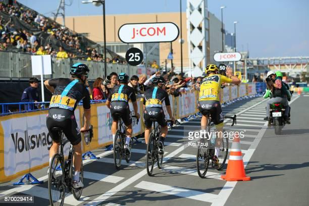 5th Tour de France Saitama Criterium 2017 Start / Team SKY / Kenny ELISSONDE / Christopher FROOME Yellow Leader Jersey / Michal KWIATKOWSKI / Michal...