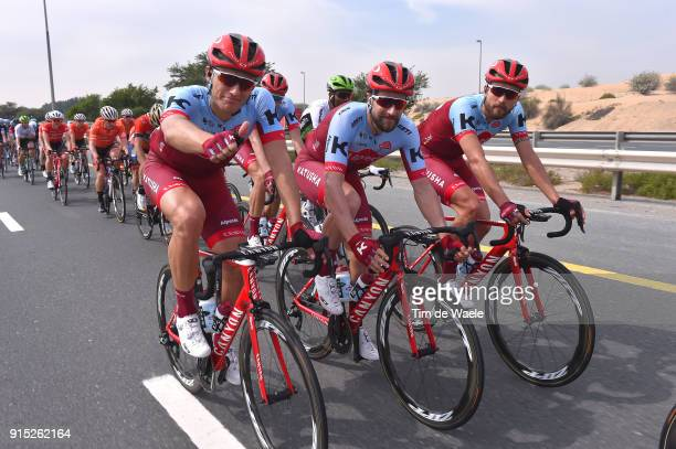5th Tour Dubai 2018 / Stage 2 Marcel Kittel of Germany / Marco Haller of Austria / Rick Zabel of Germany / Team Katusha Alpecin / Skydive Dubai Al...