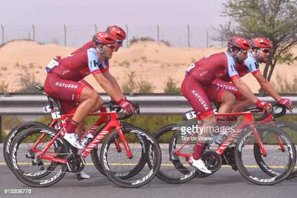 5th Tour Dubai 2018 / Stage 2 Marcel Kittel of Germany / Marco Haller of Austria / Rick Zabel of Germany / Team Team Katusha Alpecin / Skydive Dubai...