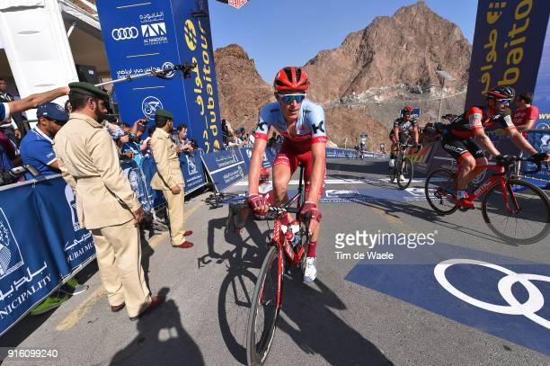5th Tour Dubai 2018 / Stage 4 Arrival / Nils Politt of Germany / Skydive Dubai Hatta Dam 402m / Dubai Municipality Stage / Dubai Tour /