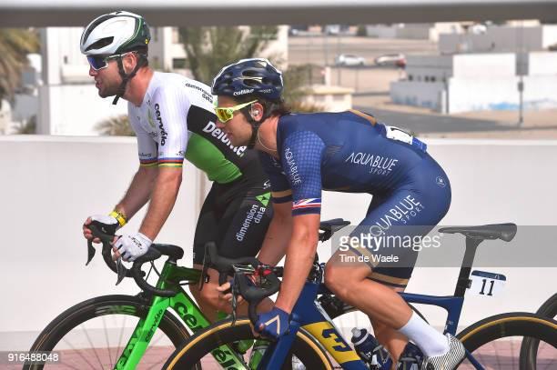 5th Tour Dubai 2018 / Stage 5 Mark Cavendish of Great Britain / Adam Blythe of Great Britain / Skydive Dubai City Walk / Meraas Stage / Dubai Tour /