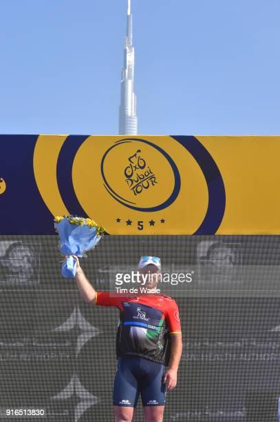 5th Tour Dubai 2018 / Stage 5 Podium / Quentin Valognes of France Black Intermediate Sprint Jersey / Burj Khalifa Building / Trophy / Skydive Dubai...