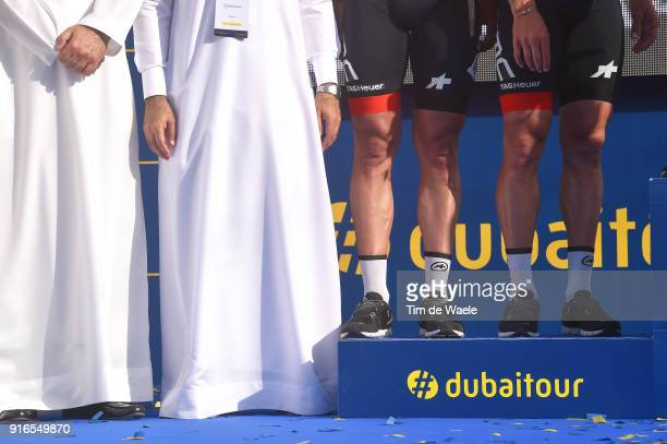 5th Tour Dubai 2018 / Stage 5 Podium / Team BMC Racing Team Best Team Celebration / Illustration / Legs / Skydive Dubai City Walk / Meraas Stage /...