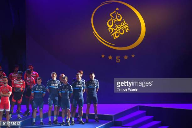 5th Tour Dubai 2018 / Team Presentation Team Novo Nordisk / Adam Blythe of Great Britain Mehdi Benhamouda of France Brian Kamstra of The Netherlands...
