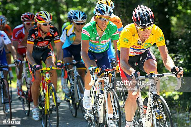 'Cycling 61th Criterium Dauphine Libere / Stage 5 EVANS Cadel Yellow Jersey / CONTADOR Alberto Green Jersey / VALVERDE Alejandro / Valence Le...