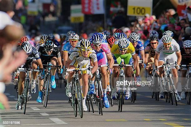 64th Tour of Romandie 2010 / Stage 2 Arrival Sprint / CAVENDISH Mark / HONDO Danilo / HUNTER Robert / HAEDO Lucas Sebastian / SAGAN Peter Yellow...