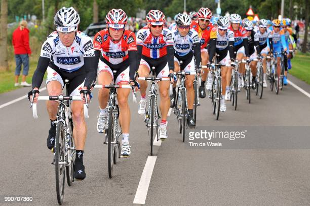 64Th Tour Of Spain Vuelta Stage 2Team Saxo Bank O'Grady Stuart / Kroon Karsten / Arvesen Kurt Asle / Breschel Matti / Fuglsang Jacob / Cancellara...