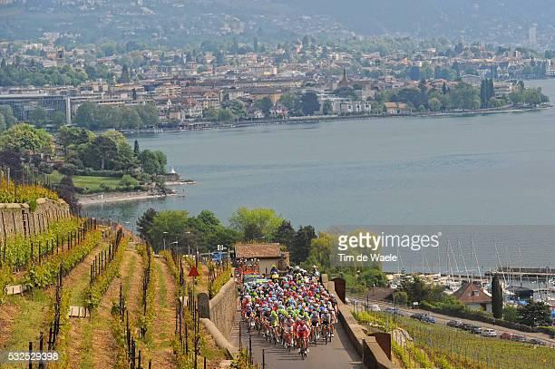 65th Tour de Romandie 2011 / Stage 1 Illustration Illustratie / Lake Lac Meer Leman / Montreux City Ville Stad / Peleton Peloton / Landscape Paysage...