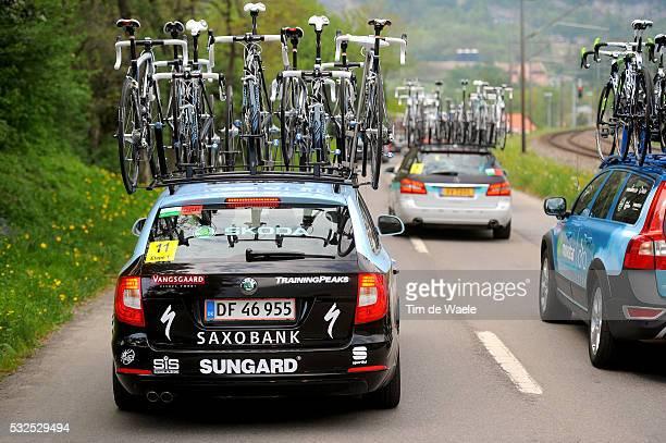 65th Tour de Romandie 2011 / Stage 1 Illustration Illustratie / SKODA Car Voiture Auto / Team Saxo Bank Sungard / Martigny Leysin / TDR /Tim De Waele