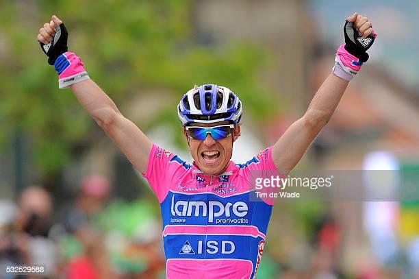 65th Tour de Romandie 2011 / Stage 2 Arrival / Damiano CUNEGO Celebration Joie Vreugde / Romont - Romont / TDR / Etape Rit /Tim De Waele