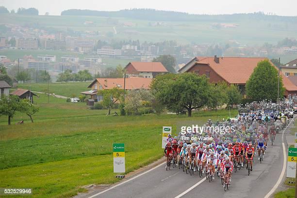 65th Tour de Romandie 2011 / Stage 2 Illustration Illustratie / Peleton Peloton / Landscape Paysage Landschap / Romont - Romont / TDR / Etape Rit...