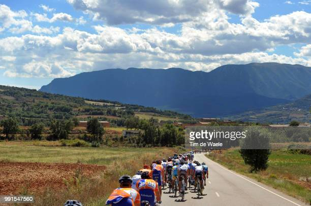 65Th Tour Of Spain 2010 Stage 12Illustration Illustratie Peleton Peloton Mountains Montagnes Bergen Landscape Paysage Landschap Andorra La Vella...
