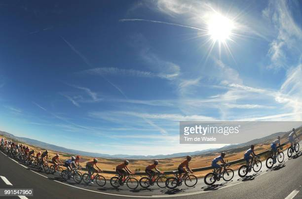 65Th Tour Of Spain 2010 Stage 13Illustration Illustratie Peleton Peloton Dessert Woestijn Heat Hot Warm Landscape Paysage Landschap Rincon De Soto...