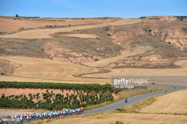65Th Tour Of Spain 2010 Stage 13Illustration Illustratie Peleton Peloton Dessert Woestijn Landscape Paysage Landschap Rincon De Soto Burgos / Vuelta...