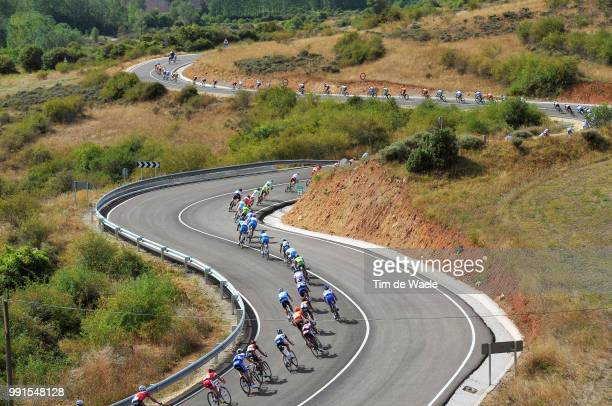 65Th Tour Of Spain 2010 Stage 13Illustration Illustratie Peleton Peloton Alto De Pradilla / Descend Afdaling Landscape Paysage Landschap Rincon De...