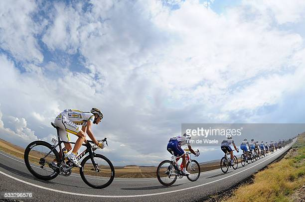 65th Tour of Spain 2010 / Stage 19 Illustration Illustratie / Peleton Peloton / Sky Ciel Lucht Hemel / Tejay VAN GARDEREN / Landscape Paysage...