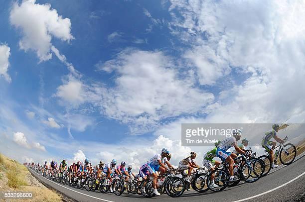 65th Tour of Spain 2010 / Stage 19 Illustration Illustratie / Peleton Peloton / Sky Ciel Lucht Hemel / Landscape Paysage Landschap / Piedrahita -...