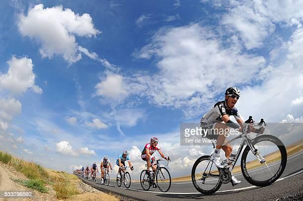 65th Tour of Spain 2010 / Stage 19 KLOSTERGAARD Kasper / Illustration Illustratie / Peleton Peloton / Sky Ciel Lucht Hemel / Landscape Paysage...