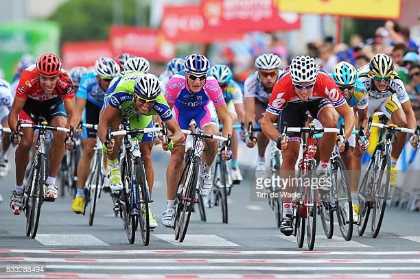 65th Tour of Spain 2010 / Stage 6 Arrival Sprint / HUSHOVD Thor / BENNATI Daniele / DAVIS Allan / BOLE Grega / GILBERT Philippe Red Jersey / Peter...