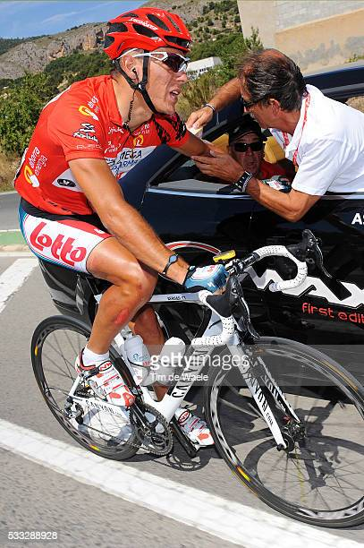 65th Tour of Spain 2010 / Stage 8 GILBERT Philippe Red Jersey / Injury Blessure Gewond / Doctor Medic Dokter / Villena Xorret Del Cati / Vuelta /...