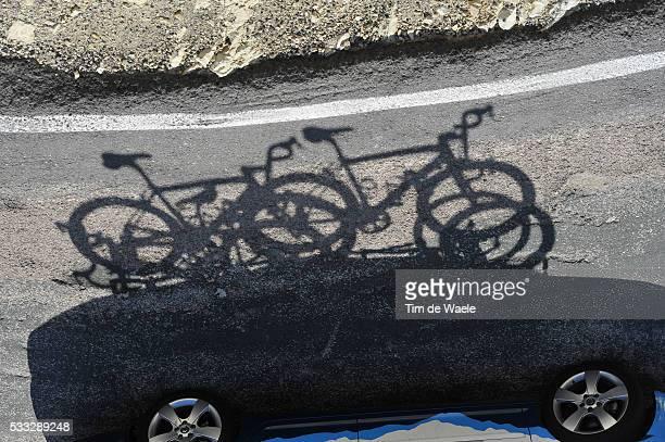65th Tour of Spain 2010 / Stage 8 Illustration Illustratie / Bike Velo Fiets / Shadow Hombre Schaduw / Team Saxo Bank / Villena - Xorret Del Cati /...