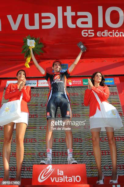 65Th Tour Of Spain 2010 Stage 9Podium Lopez David Celebration Joie Vreugde Calpe Alcoy /Vuelta Tour D'Espagne Ronde Van Spanje Etape Rit Tim De Waele