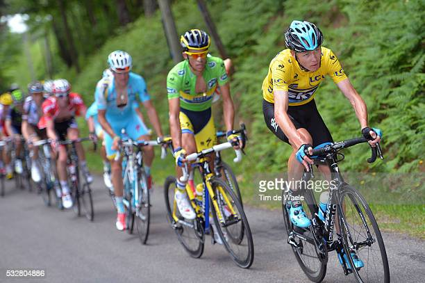 66th Criterium du Dauphine 2014 / Stage 2 FROOME Christopher Yellow Leader Jersey / CONTADOR Alberto Green Sprint Jersey / Tarare Pays d'Olliergues...