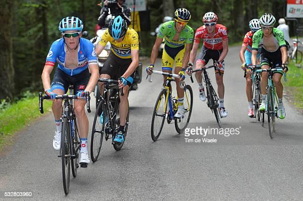 66th Criterium du Dauphine 2014 / Stage 2 TALANSKY Andrew / FROOME Christopher Yellow Jersey / CONTADOR Alberto Green Jersey / VAN DEN BROECK Jurgen...