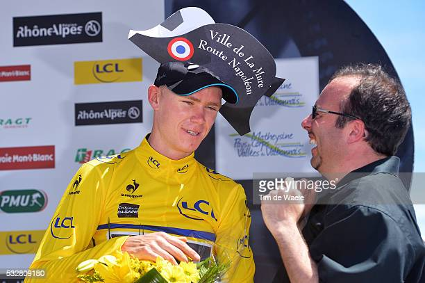 66th Criterium du Dauphine 2014 / Stage 5 Podium / FROOME Christopher Yellow Jersey Celebration Joie Vreugde / Napoleon Hat Chapeau Hoed / Sisteron...