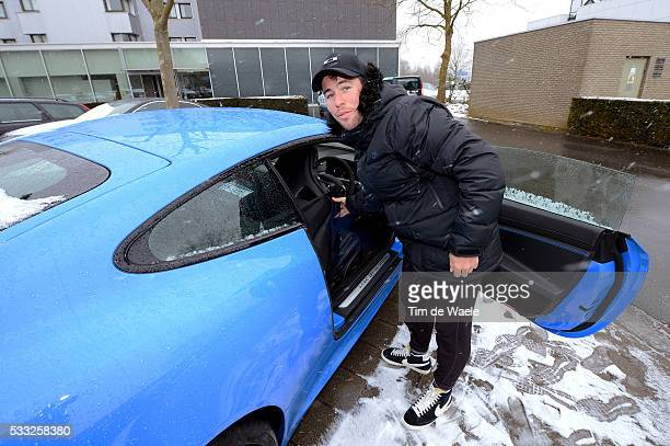 66th Kuurne - Brussel - Kuurne 2013 Mark CAVENDISH Jaguar XKRS Car Voiture Auto / Neige Sneeuw / Race was cancelled due to snow - bad weather...