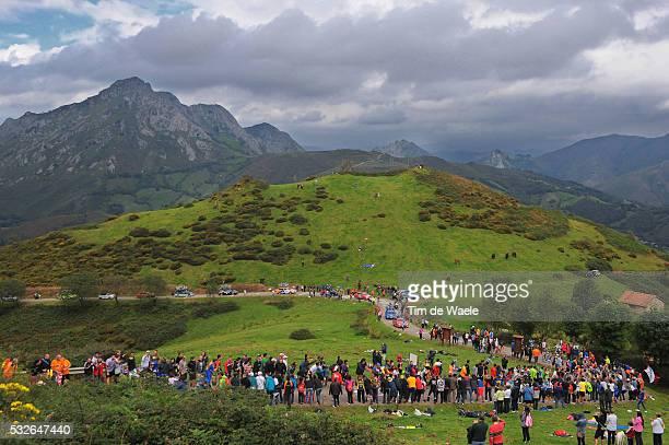 66th Tour of Spain 2011 / Stage 15 Illustration Illustratie / Alto de Angliru 1557m / Mountains Montagnes Bergen / Landscape Paysage Landschap /...