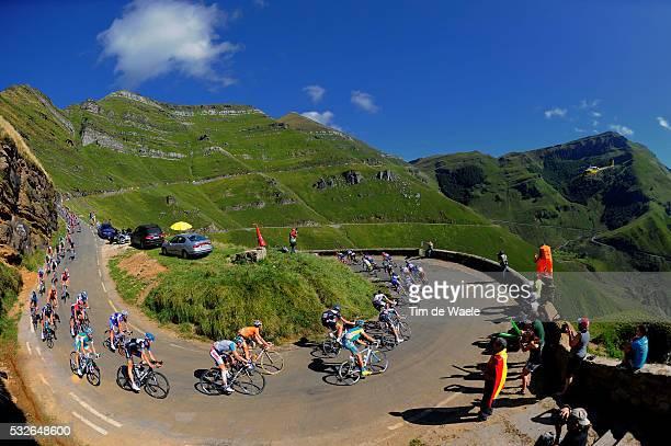 66th Tour of Spain 2011 / Stage 17 Illustration Illustratie / PORTILLO DE LUNADA 1330m / Peleton Peloton / Mountains Montagnes Bergen / Landscape...