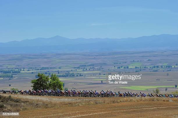 66th Tour of Spain 2011 / Stage 17 Illustration Illustratie / PORTILLO DE BUSTOS 1000m / Peleton Peloton / Landscape Paysage Landschap / Faustino V -...