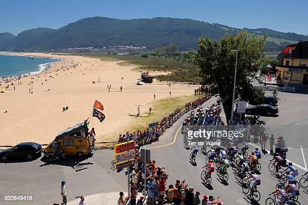 66th Tour of Spain 2011 / Stage 19 Illustration Illustratie / NOJA Beach Plage Strand / Sea Mer Zee / Peleton Peloton / Landscape Paysage Landschap /...