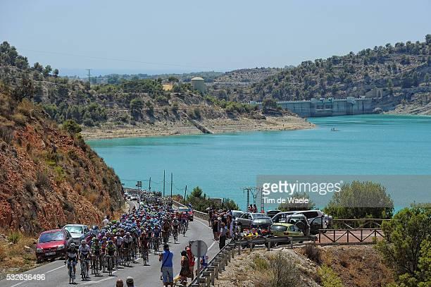 66th Tour of Spain 2011 / Stage 2 Illustration Illustratie / Peleton Peloton / Alto de Rellue / Lake Lac Meer / Landscape Paysage Landschap / La...