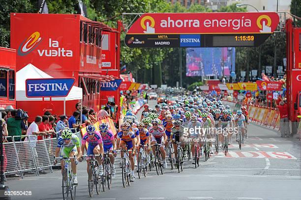 66th Tour of Spain 2011 / Stage 21 Illustration Illustratie / Arrival Aankomst Arrivee / Peleton Peloton / Landscape Paysage Landschap / Circuito Del...
