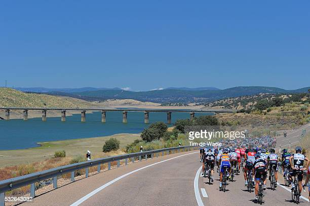 66th Tour of Spain 2011 / Stage 7 Illustration Illustratie / Peleton Peloton / EMBALSE DE CLJARA Lake Lac Meer / Bridge Pont Brug / Landscape Paysage...