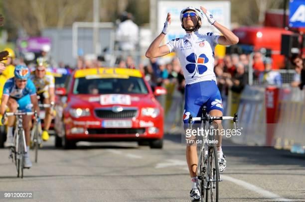 67E ParisNice Stage 5Arrival Jeremy Roy Celebration Joie Vreugde Thomas Voeckler Tony Martin Annonay VallonPontD'Arc Etape Rit Tim De Waele