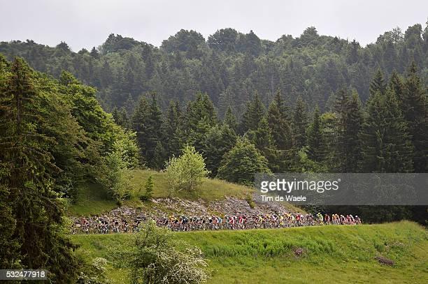 67th Criterium du Dauphine 2015 / Stage 2 Illustration Illustratie / Peleton Peloton / Col De Cuvery Mountains Montagnes Bergen / Landscape Paysage...