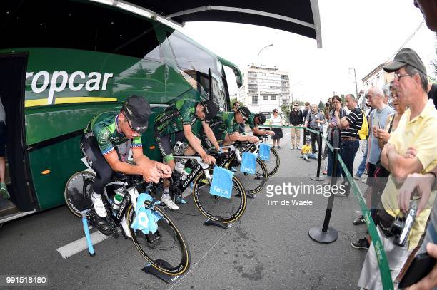 67Th Criterium Du Dauphine 2015 Stage 3 Start Warming Up Team Europcar / Voeckler Thomas / Tacx Roanne Montagny /Team Time Trial Contre La Montre...