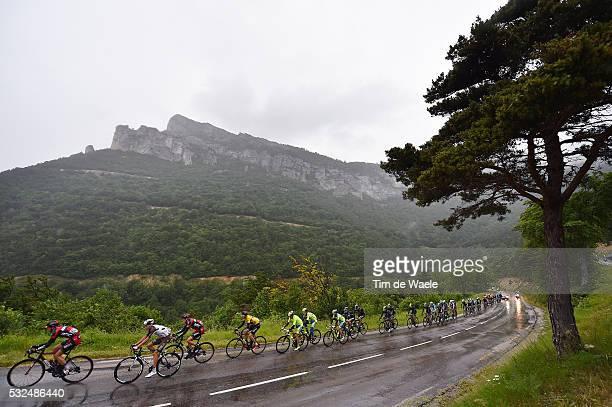 67th Criterium du Dauphine 2015 / Stage 6 Illustration Illustratie / Peleton Peloton / Col du Rousset Mountains Montagnes Bergen / VAN GARDEREN Tejay...