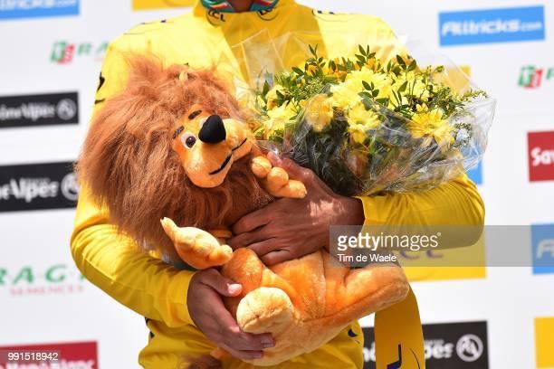 67Th Criterium Du Dauphine 2015 Stage 6Podium/ Nibali Vicenzo Yellow Leader Jersey/ Celebration Joie Vreugde/SaintBonnetEnChampsaur...