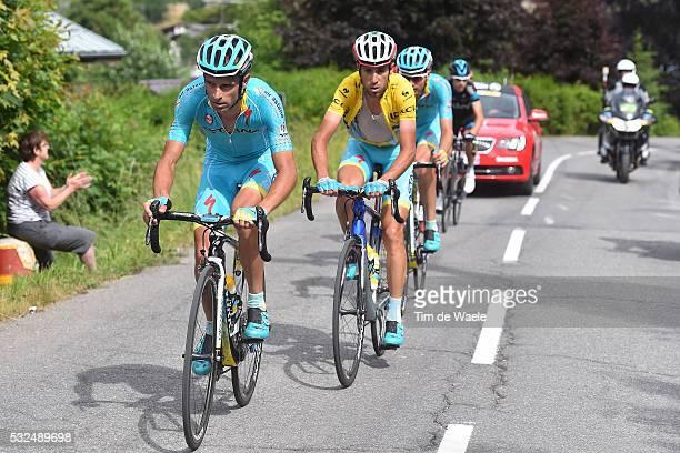 67th Criterium du Dauphine 2015 / Stage 7 SCARPONI Michele / NIBALI Vincenzo Yellow Leader Jersey Dropped / Montmelian SaintGervais Mont Blanc 1372m...