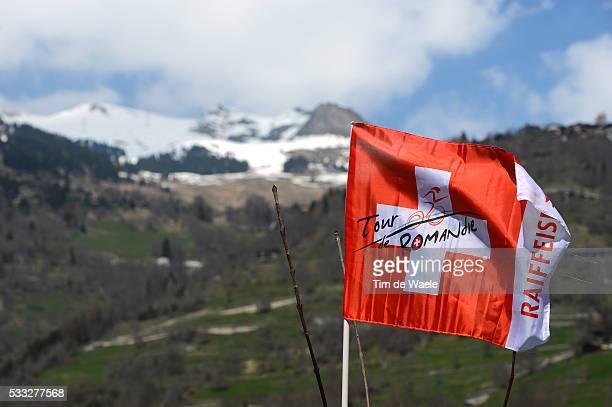 67th Tour de Romandie 2013 / Prologue Illustration Illustratie / Flag Drapeau Vlag / Le Chable Bruson / Prologue Proloog TT Time Trial Contre la...